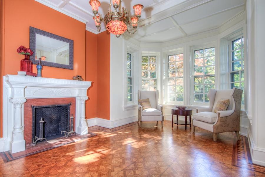 house for sale chestnut hill restored victorian foyer