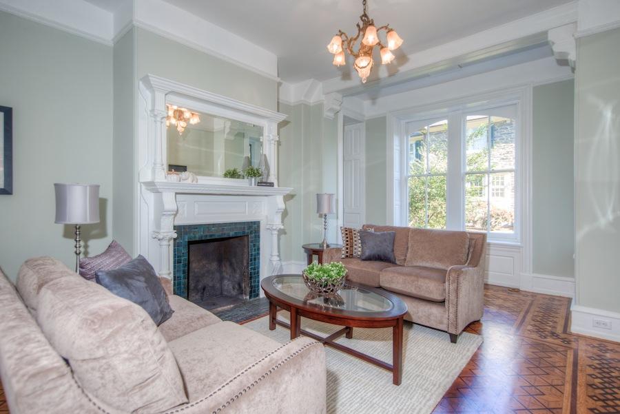 house for sale chestnut hill restored victorian living room
