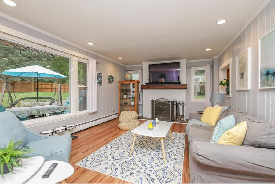 house for sale elkins park expanded farmhouse living room