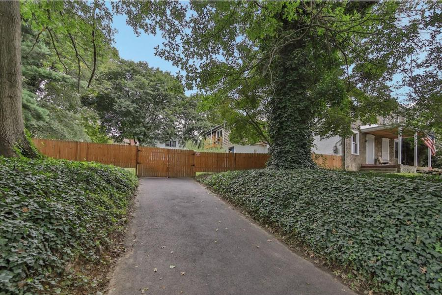 house for sale elkins park expanded farmhouse front yard view