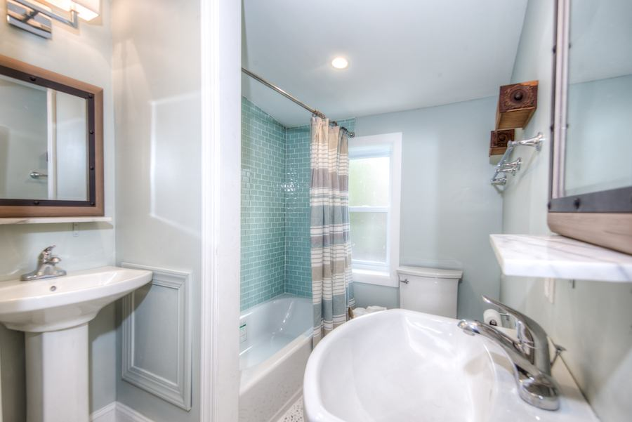 house for sale germantown rehabbed twin bathroom