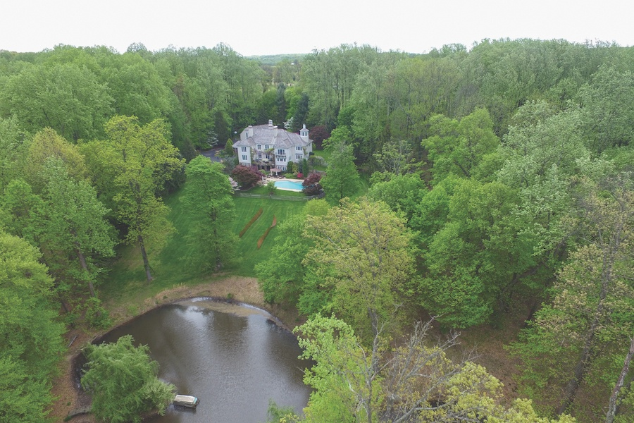 house for sale lumberville provincial aerial view