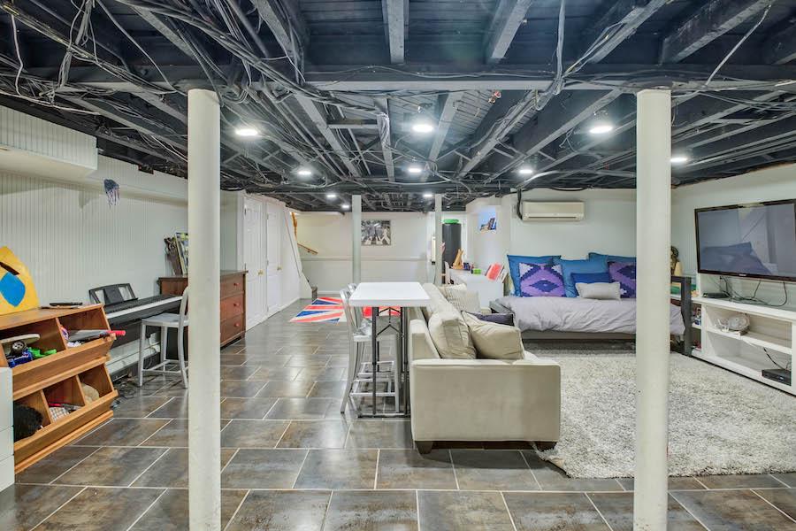 house for sale merion station modern tudor basement