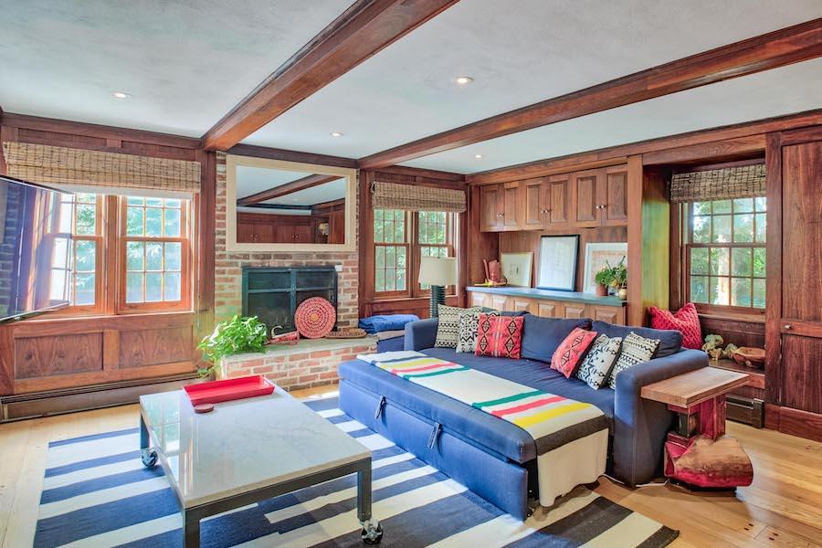 house for sale merion station modern tudor family room