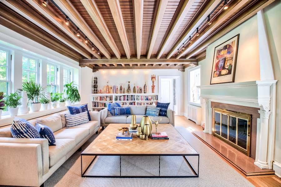 house for sale merion station modern tudor living room