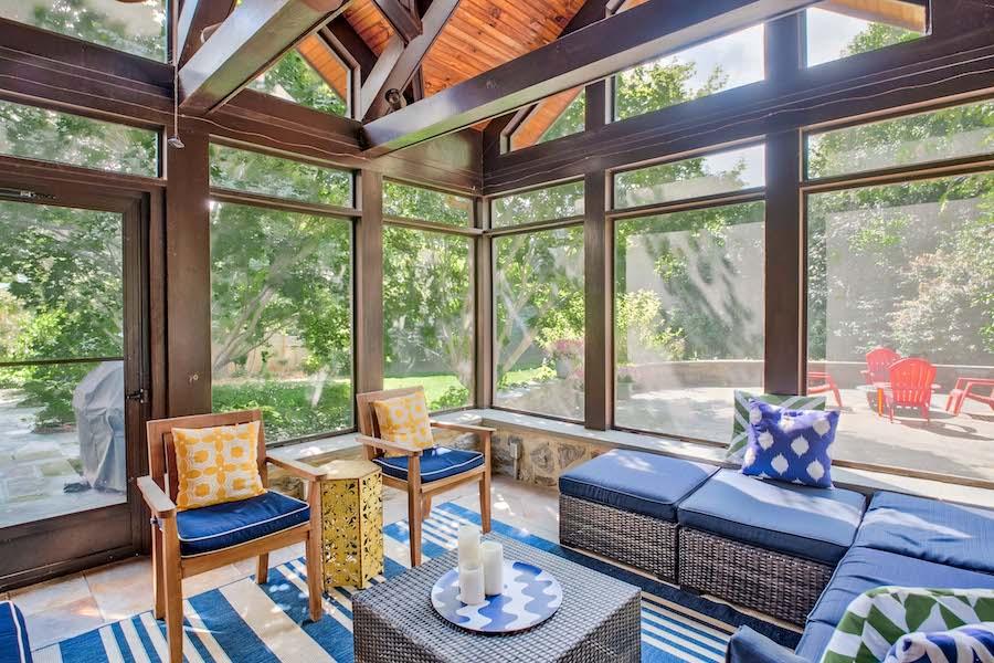 house for sale merion station modern tudor back porch