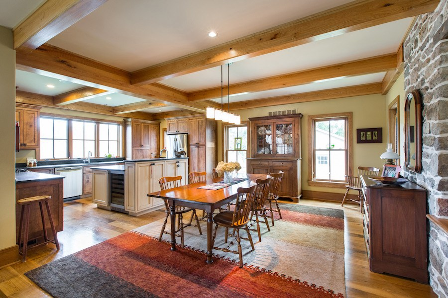 house for sale new hope expanded farmhouse barn dining and kitchen