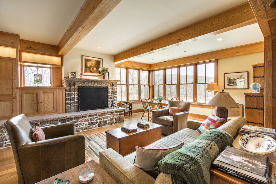 house for sale new hope expanded farmhouse barn living room