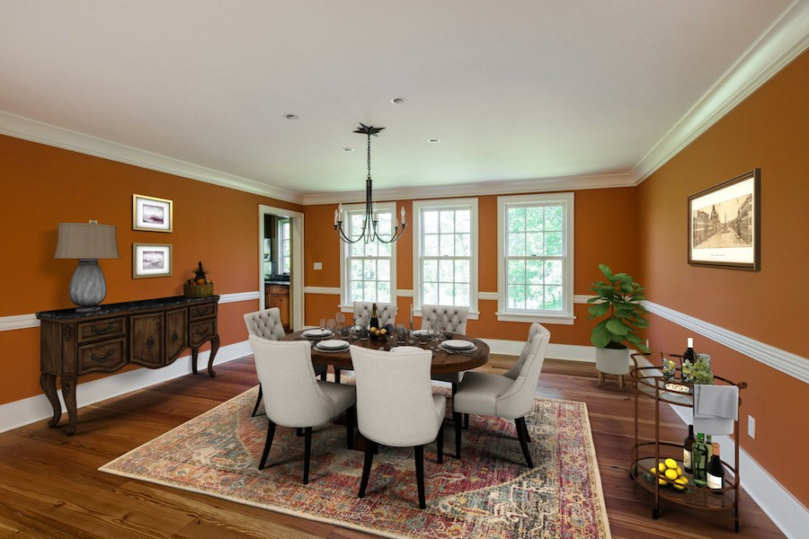 house for sale new hope expanded farmhouse dining room