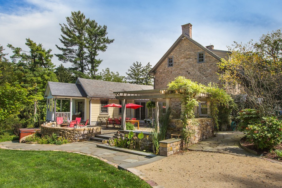 house for sale new hope expanded farmhouse side terrace