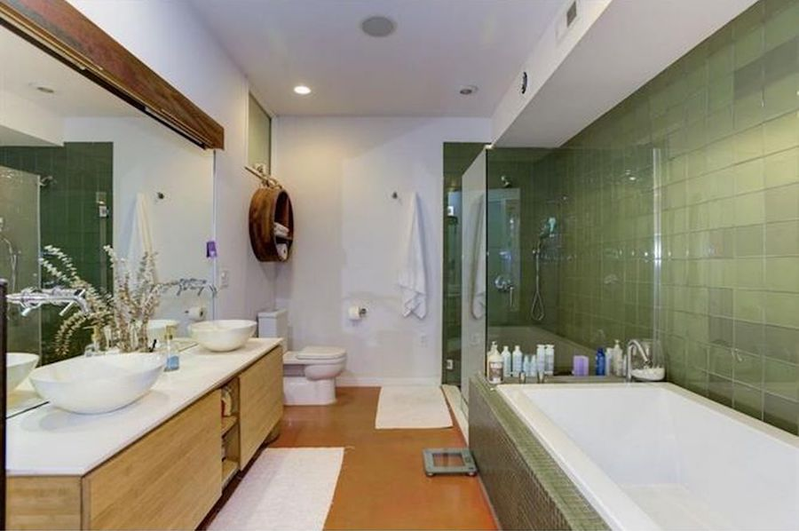 house for sale northern liberties leed platinum condo master bathroom