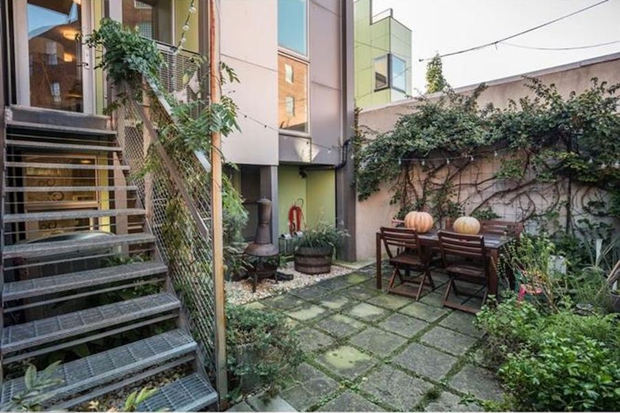 house for sale northern liberties leed platinum condo rear patio