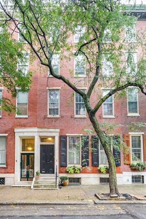 house for sale rittenhouse airbnb townhouse exterior front