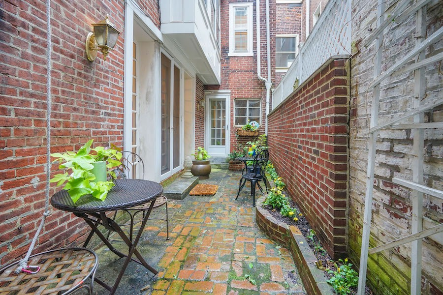 house for sale rittenhouse airbnb townhouse patio