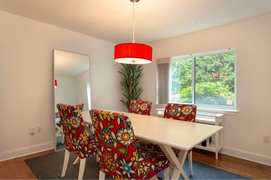 condo for sale society hill abbotts square townhouse dining room