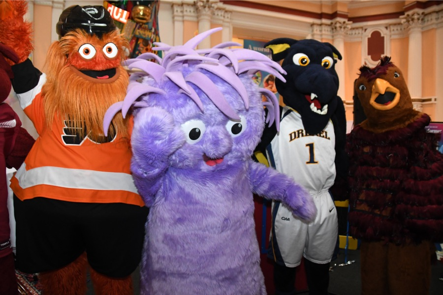 please touch museum mascot squiggles gritty