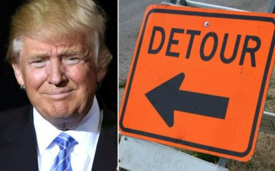 trump road closures
