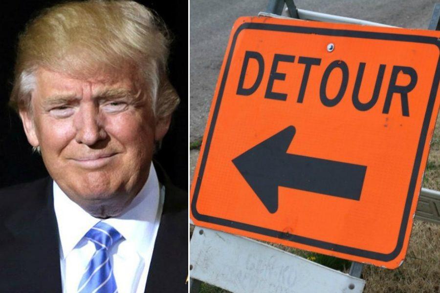 trump road closures