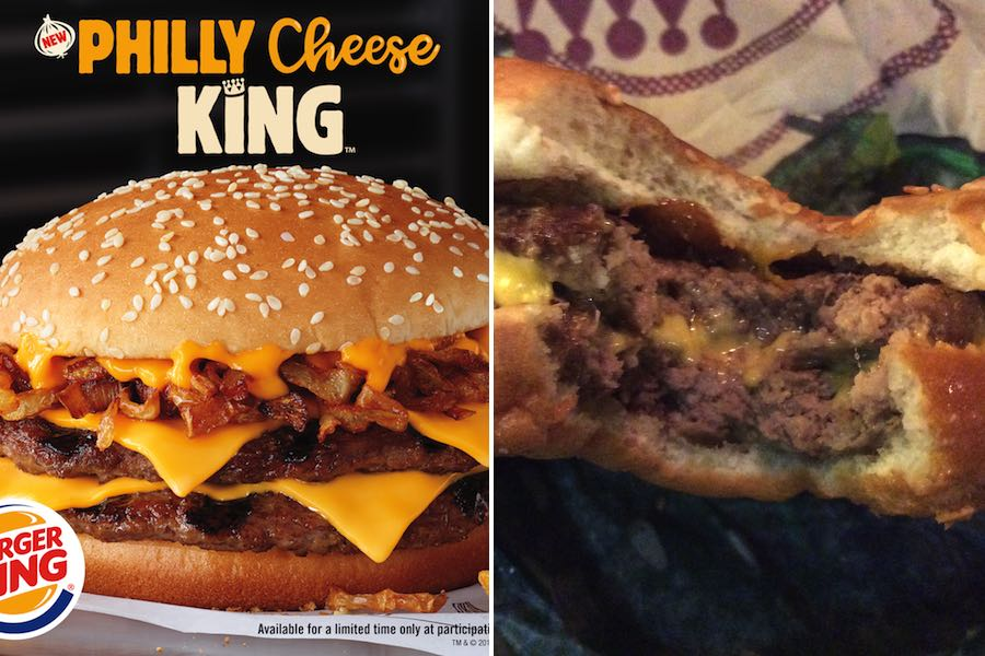 burger king cheesesteak burger