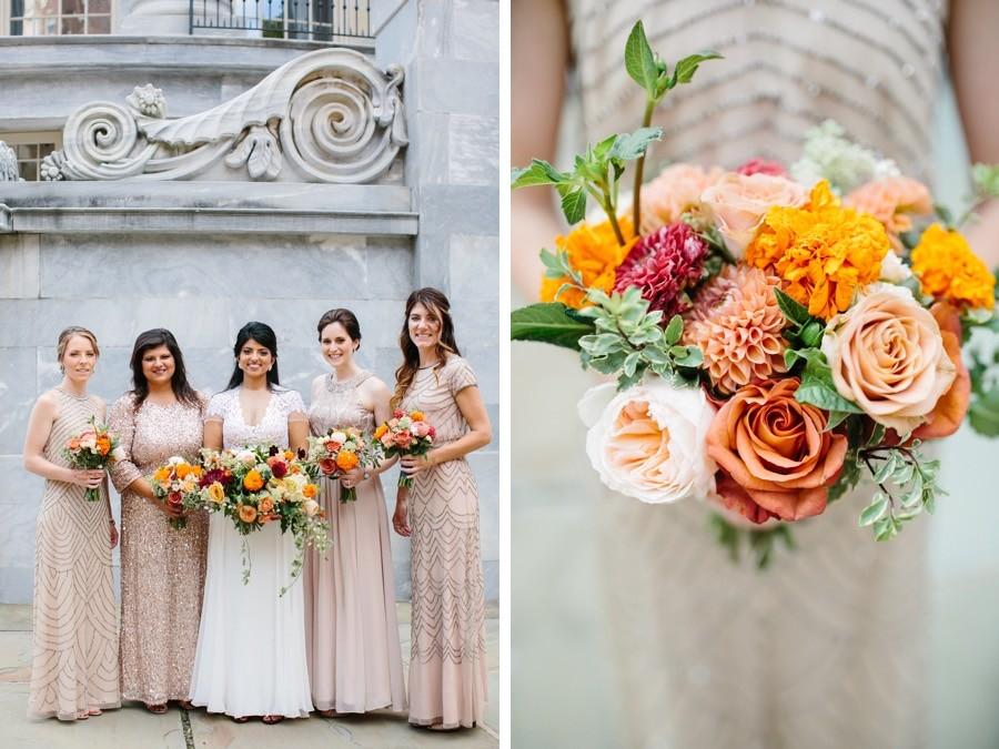 champagne-bridesmaid-dresses