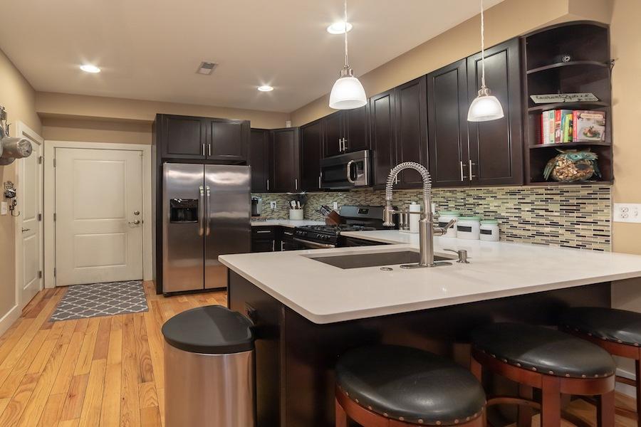 condo for sale fishtown tri-level kitchen