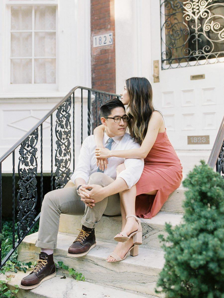 couple sitting on stoop
