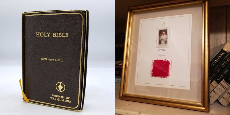 frank rizzo estate sale pope bible