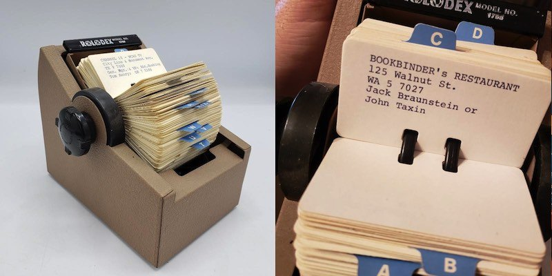 frank rizzo estate sale rolodex