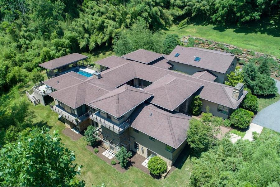house for sale chadds ford modern villa aerial view