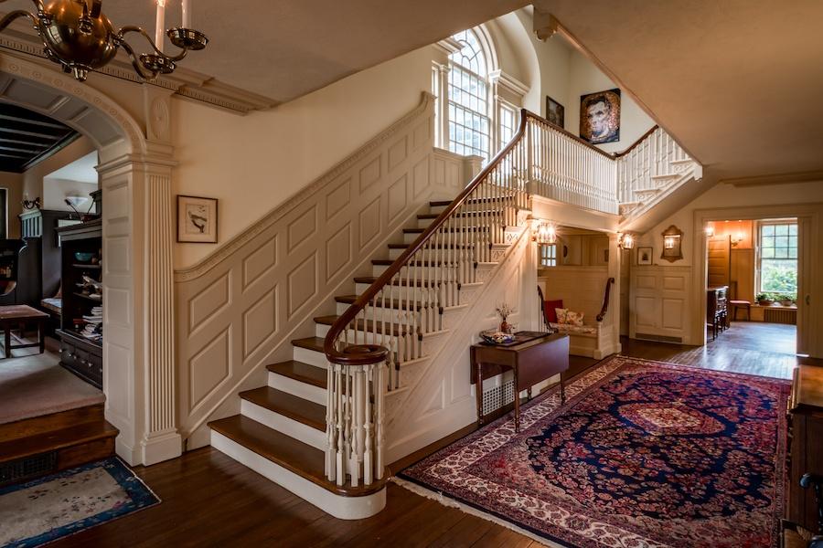 house for sale devon colonial revival foyer