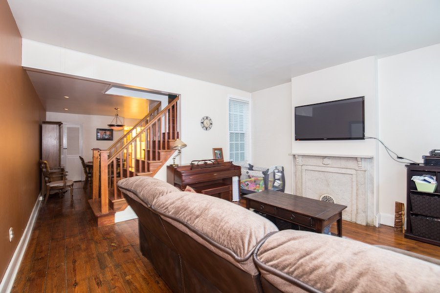 house for sale northern liberties traditional row house living room