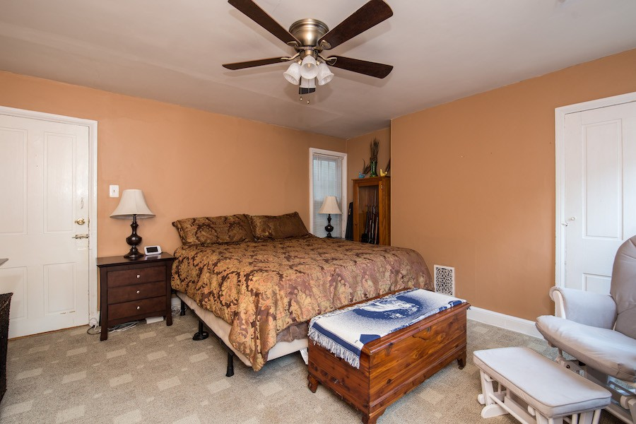 house for sale northern liberties traditional row house master bedroom