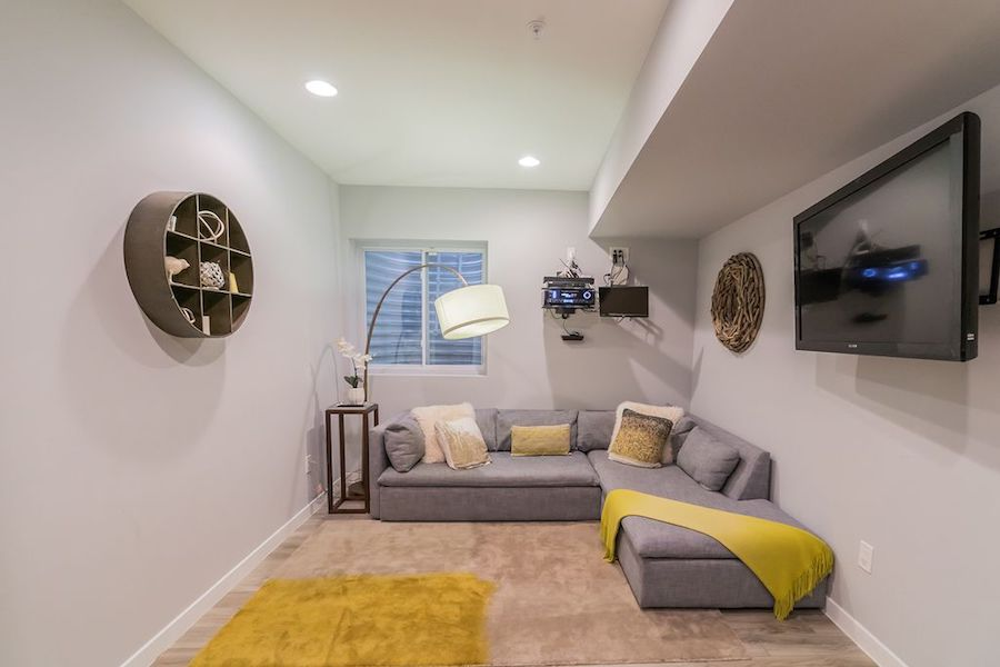 house for sale northern liberties modern townhouse basement rec room