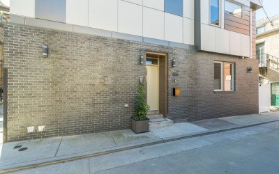house for sale northern liberties modern townhouse front entrance
