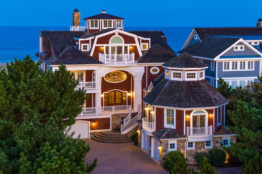house for sale rehoboth beachfront mansion exterior front