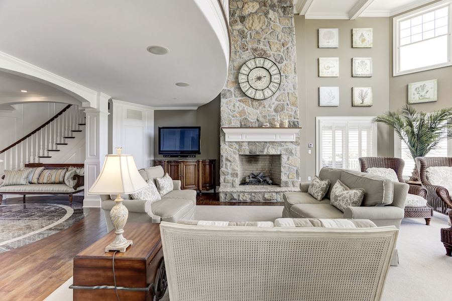 house for sale rehoboth beachfront mansion great room
