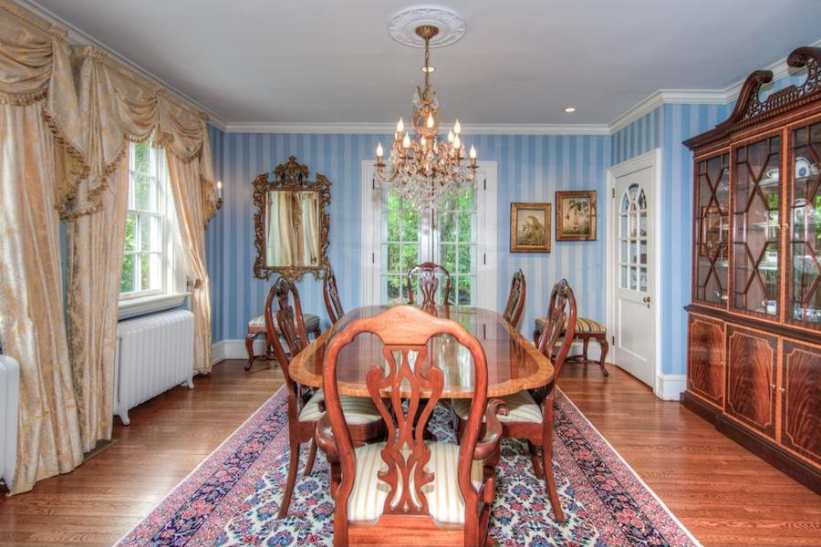 house for sale wayne french colonial dining room