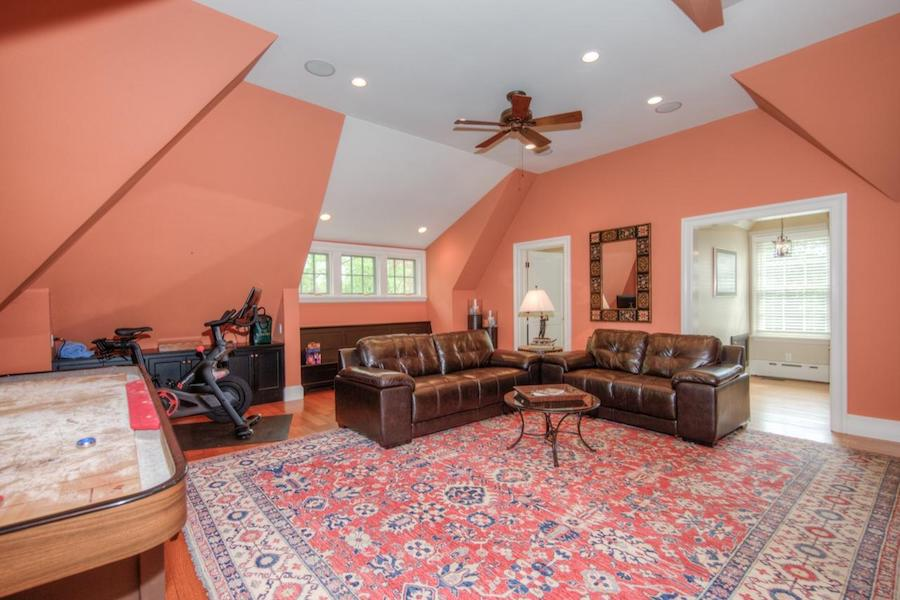 house for sale wayne french colonial game room