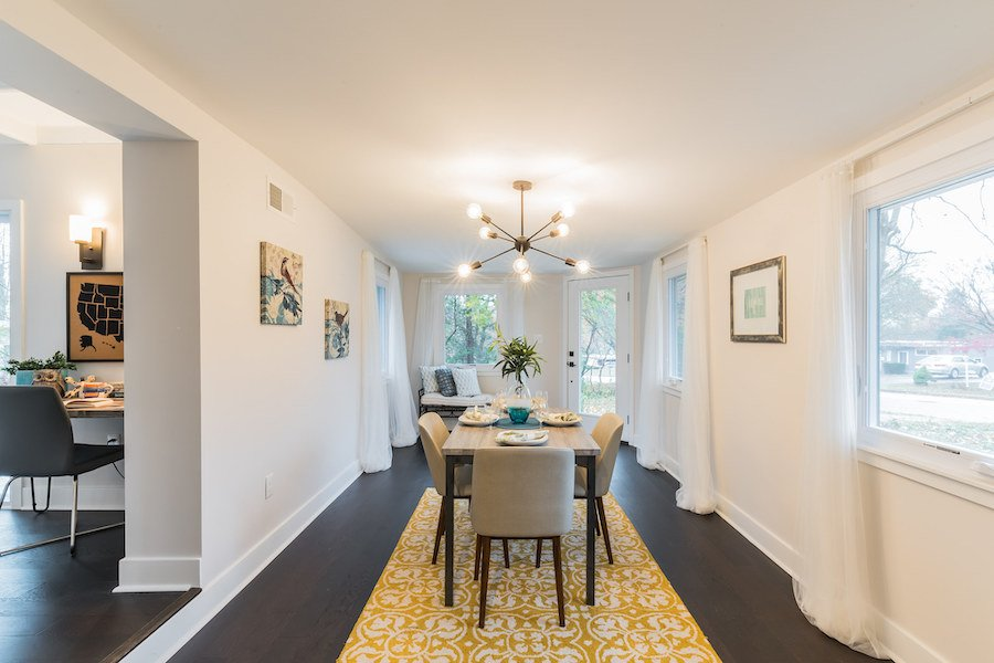 house for sale wyndmoor midcentury classic dining room