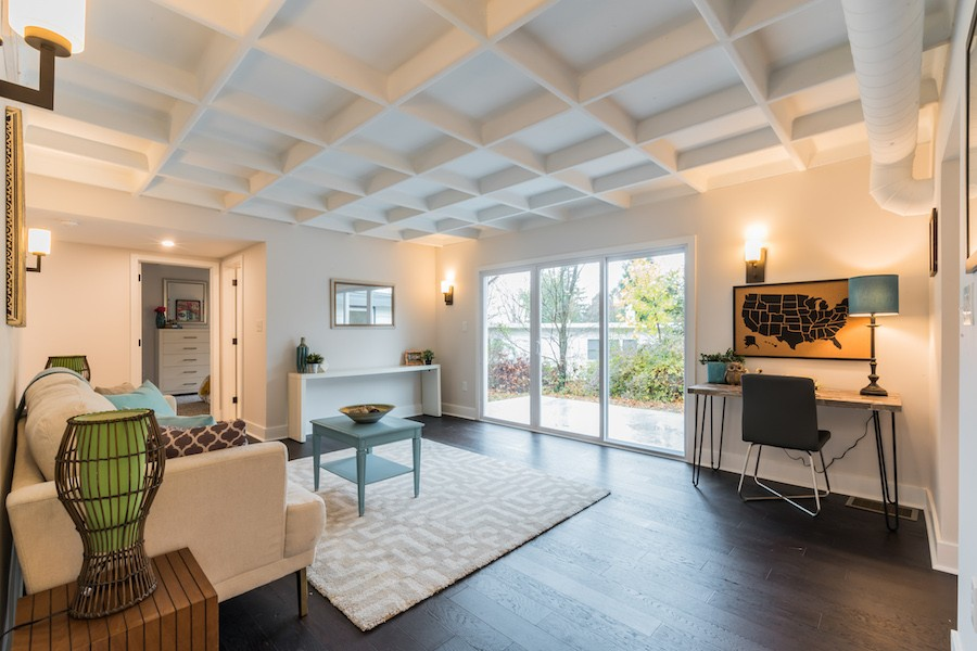 house for sale wyndmoor midcentury classic living room