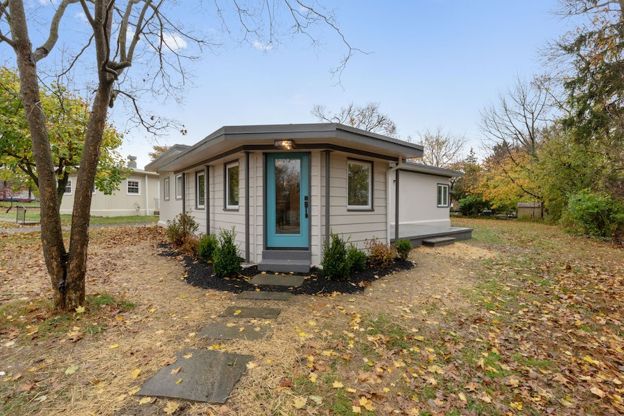 house for sale wyndmoor midcentury classic side entrance