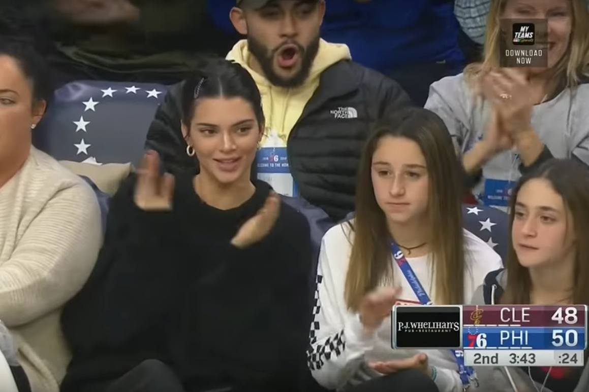 kendall jenner petition sixers wells fargo center
