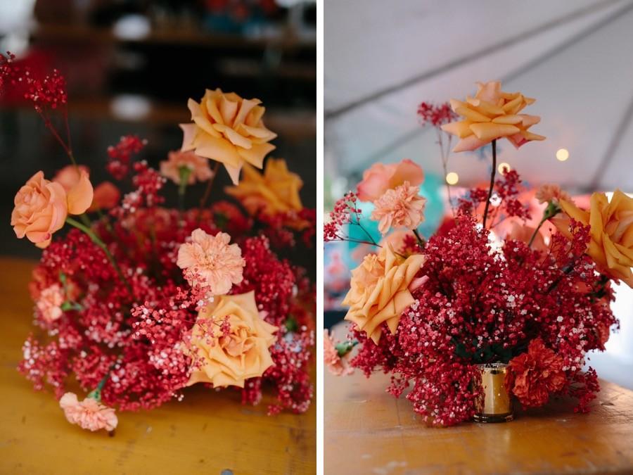texture floral centerpieces