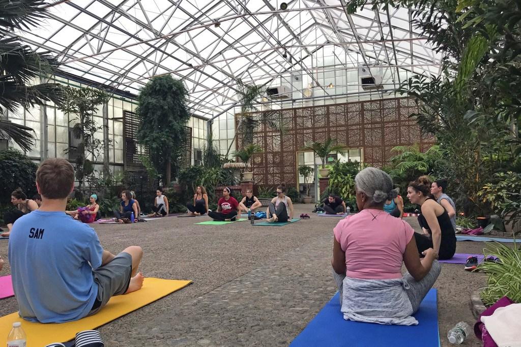fairmount park greenhouse yoga