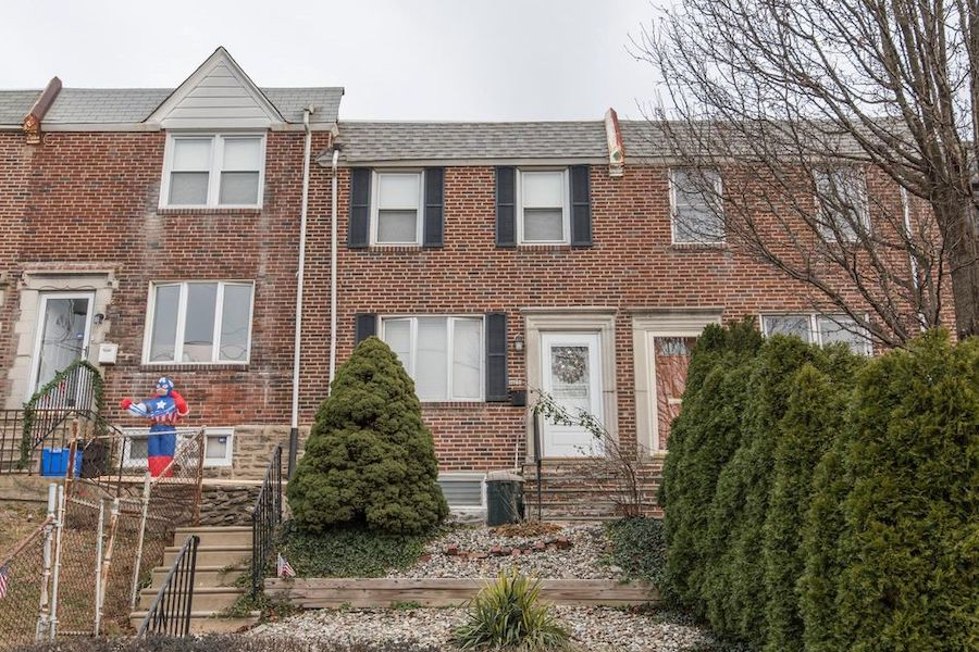 house for rent wissahickon rowhouse exterior front