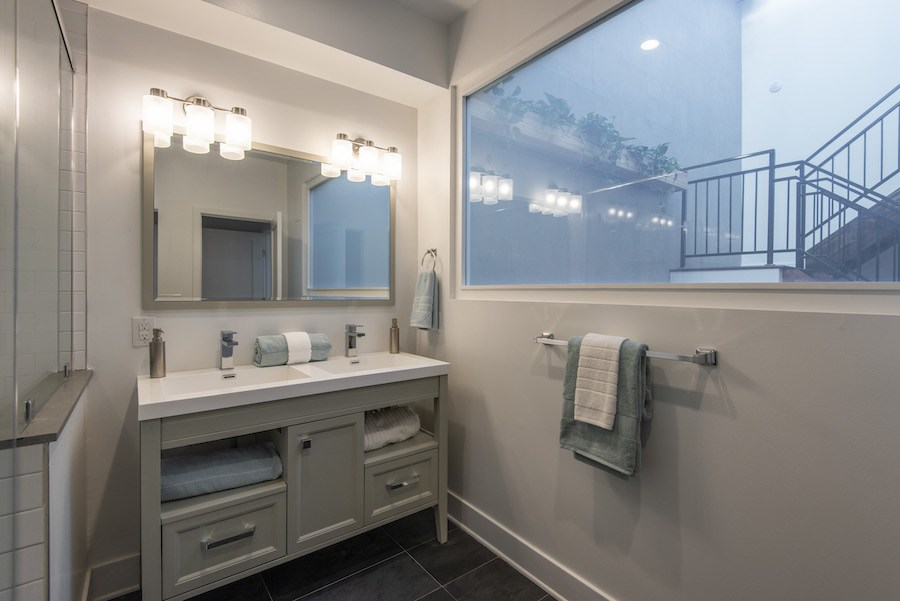 house for sale east falls new construction row master bathroom
