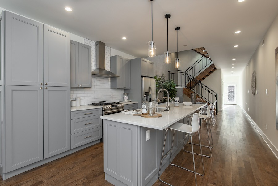 house for sale east falls new construction row kitchen