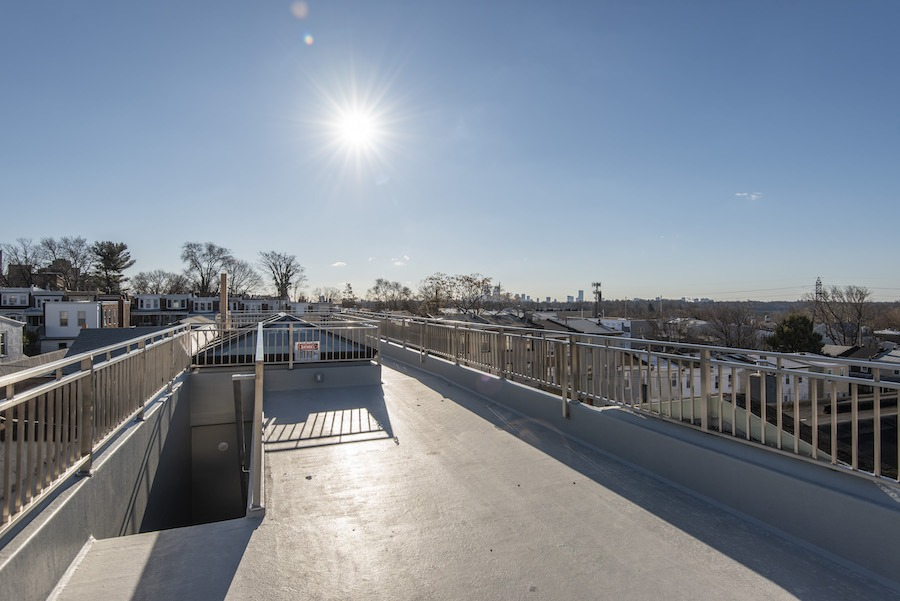 house for sale east falls new construction row roof deck