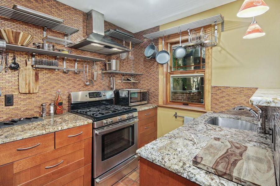 house for sale fitler square courtyard house kitchen