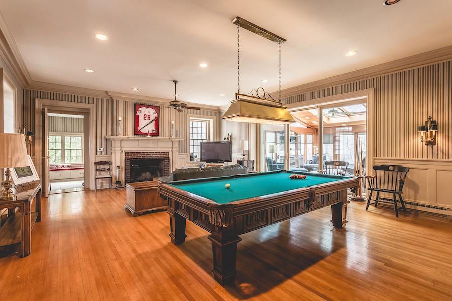 house for sale lower gwynedd smith mansion billiard room